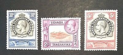 KUT KGV Kenya Uganda and Tanganyika 1935 2/- SG119 5/- SG121 mounted mint stamps