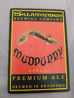 beer pump clip badge - Salamander Brewery Mudpuppy Ale