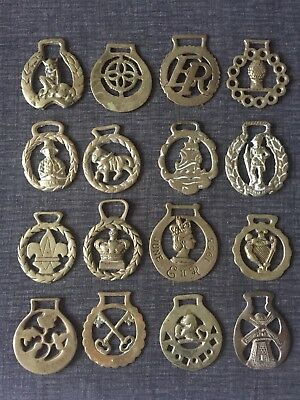 Vintage Collection Of 16 Brass Horse Brasses
