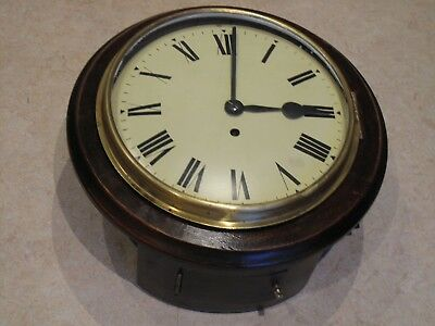 Antique School/Railway Single Fusee Wall Clock