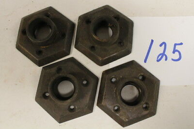 #125 – 4 Matching Hexagon Back Plates / Escutcheons Door Knobs