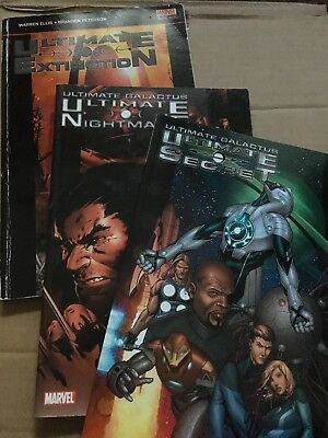 Ultimate Galactus Trilogy Marvel Comic Graphic Novel Extinction Nightmare Secret