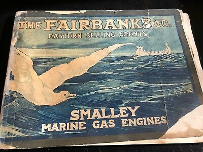 Catalog Smalley Gas Engine Marine Wooden Boat Hit Miss Old Antique Early Oil