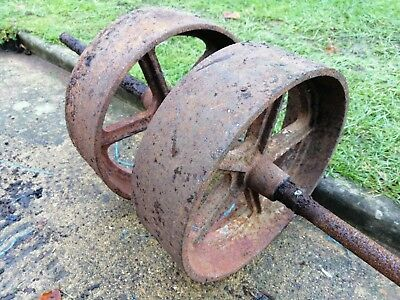 Pair of Cast Iron Wheels suitable for Stationary Engine.