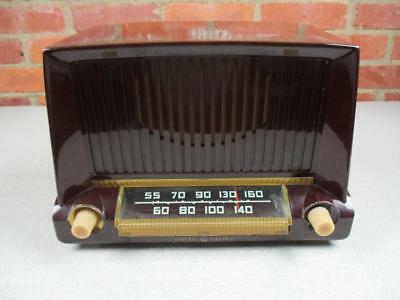 Vintage 1950 GE Multi Colored Cabinet Tube Radio Model 404 Restored