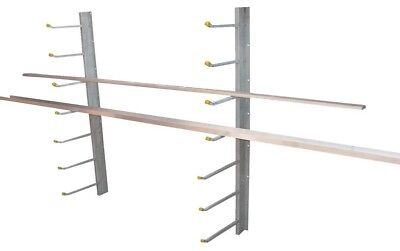 """Gemplers SR-WM Wall Mount Cantilever Material Storage Shop Rack 12"""" & 15"""" Arms"""