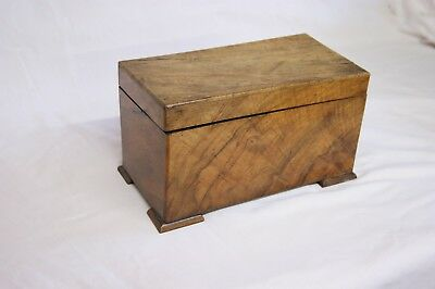 Wooden Tea Caddy in Solid Walnut From 1880
