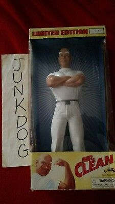 "Mr. Clean Action Figure Doll Advertising Character Display NIB 12""  Arms Crossed"