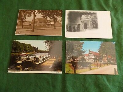 Postcard Worcestershire: Chaddesley Corbett greetings multiview tint Frith