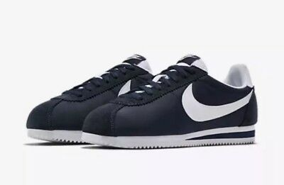 buy online 2a1fa bb0c2 NIKE CORTEZ NYLON OBSIDIAN NAVY BLUE WHITE YANKEES 807472-410 Size 11 NEW