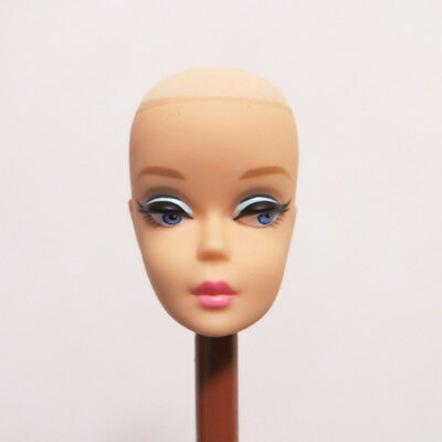 Head for Vintage Reproduction Barbie White Skin without Hair DIY Practising Head