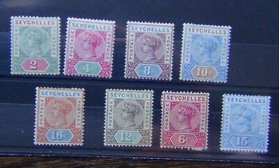 Seychelles 1890 values to 16c 1897 values to 15c MM