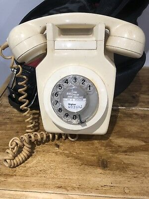 Vintage Bt/gpo 741R Rotary Dial Wall Mount Telephone Needs Converting