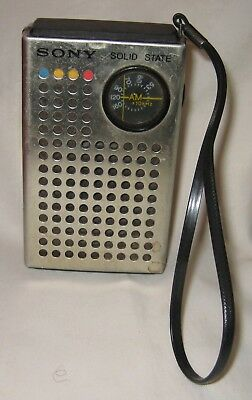 Vintage 1971 Sony Solid State TR-4100 Pocket Transistor Radio TESTED & WORKS