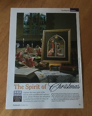 Embroidery Chart - The Spirit Of Christmas - Stained Glass Window - Nativity