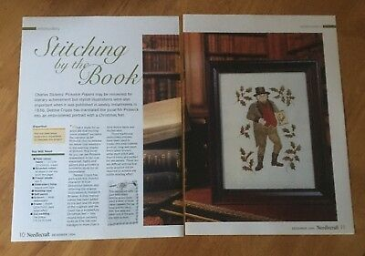 Embroidery Chart - Stitching By The Book - Christmas - Dickens - Mr Pickwick