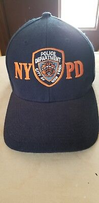 d6574b0dc NYPD POLICE DEPARTMENT City of New York Navy Blue Adjustable Hat ...