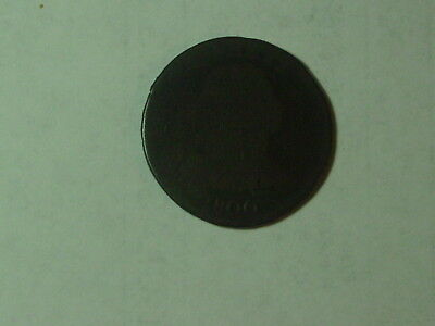 1800 Draped Large Cent, date is visible