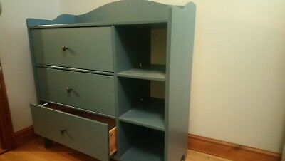 Blue trogen IKEA Baby Changing Unit with Drawers And Shelves