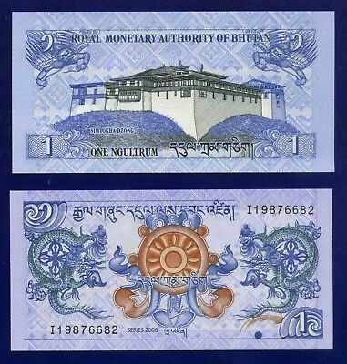 Bhutan 1 Ngultrum 2006 P27 Uncirculated Eu-1