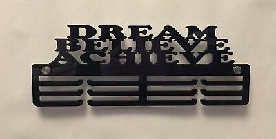 5mm Thick Acrylic 3 Tier DREAM BELIEVE & ACHIEVE V2 Medal Hanger / Holder/ Rack