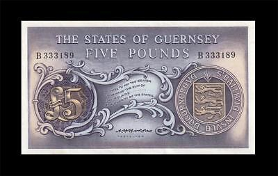 1969 The States Of Guernsey 5 Pounds **rare** (( Unc ))