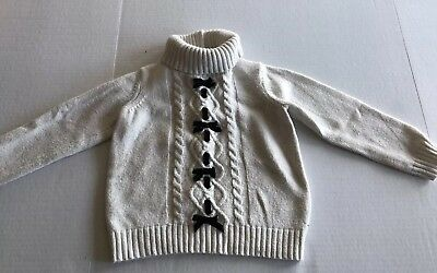 JANIE AND JACK Girls Wool Cable Knit Sweater Turtleneck Size 5