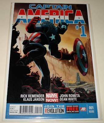 CAPTAIN AMERICA # 1 Marvel Comic (March 2013)  VFN/NM   2nd PRINTING VARIANT