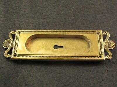 Antique Cast Brass Y & T YALE AND TOWNE Pocket Door Pull