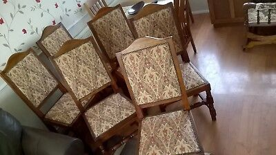 Set 6 Solid Oak Dining Chairs