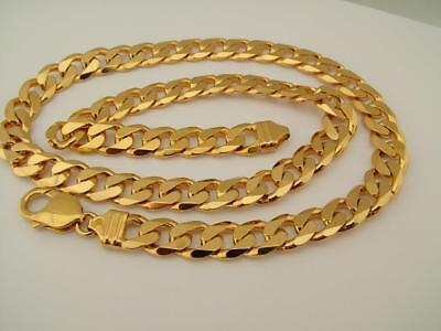 Birmingham Fully Hallmarked 9Ctgold On Solid Sterling Silver Curb Chain Necklace