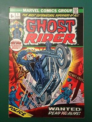 Ghost Rider #1 First 1St Print 1973 Marvel Comics Agents Of Shield (Vfn/nm) Rare