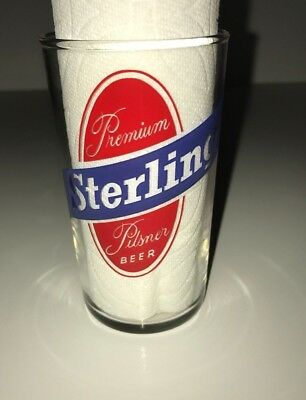 Vintage Sterling Premium beer glass Louisville, KY - sharp!