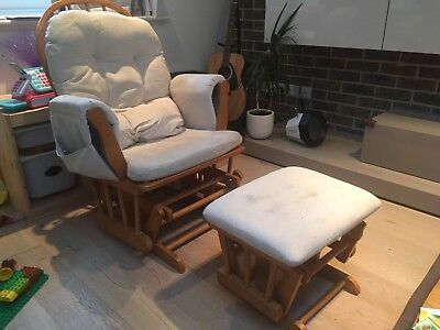 Kub Haywood Glider Nursing Chair and Footstool, Natural Colour