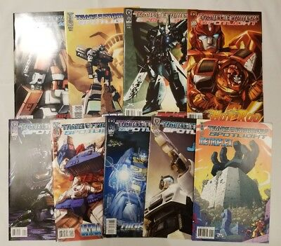 "Transformers: ""Autobot"" Spotlight lot!! IDW, 9 total issues,various yrs, NM lot!"