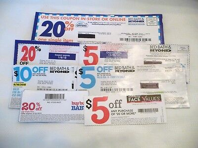 Lot of 38 Bed Bath and Beyond and Buy Buy Baby, Face Values Coupons