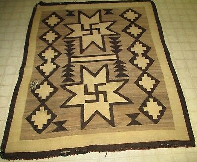 Old Navajo American Indian WHIRLING ROLLING LOGS 40x48 Rug