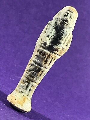 Lovely Example - Circa 664-332Bc Ancient Egyptian Shabti W/hieroglyphics