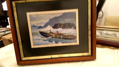 Signed John Skelton Open Edition Print -  named  INTO THE SURF  lovely