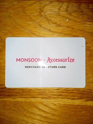 Monsoon accessorize gift card £9 value