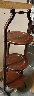 Vintage Wooden folding 3 tier Cake Stand. Last time of advertising