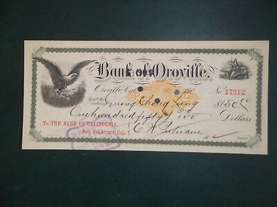 Bank of Oroville. Mar. 16, 1901. Oroville, Ca. C. W. Putnam