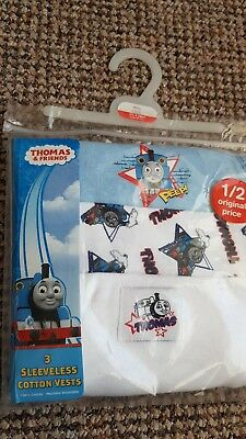 Boots Mini club baby boys vests 18-24 months 1 1/2- 2 Thomas the Tank New