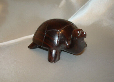 3 in Carved WOOD TURTLE