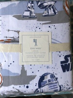 NWT Pottery Barn Kids Twin Duvet Cover Droid Star Wars