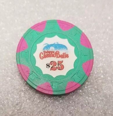 $25 Chip Dubuque Casino Belle Riverboat Dubuque Iowa Vintage retired Poker Chip