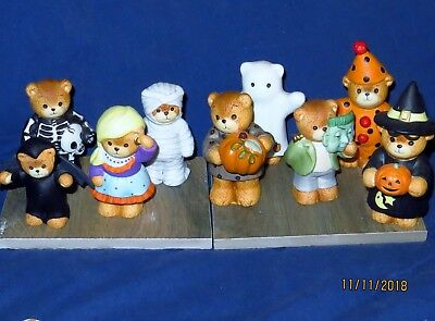 Lucy & Me 9 Piece Set Halloween Lucy Rigg Enesco 1984-1990  L00K !!!!