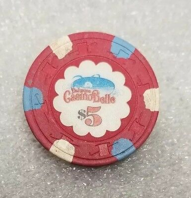$5 Chip Dubuque Casino Belle Riverboat Dubuque Iowa Vintage retired Poker Chip