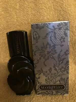 A Vintage Avon Bottle With 1.5oz Of Moonlight Lace.