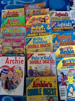 Lot of 17 Archie comic digests(includes 75th Anniversary Celebration issue,no.8!